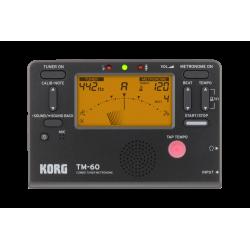KORG TM-60 Black tuner/metronoom